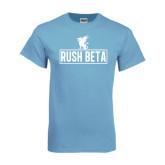 Light Blue T-Shirt-Rush Beta Outline