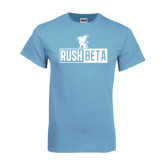 Light Blue T Shirt-Rush Beta Cutout