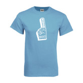 Light Blue T Shirt-Rush Foam Finger