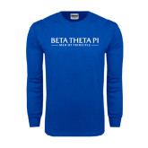 Royal Long Sleeve T Shirt-Beta Theta Pi