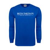 Royal Long Sleeve T Shirt-Beta Theta Pi