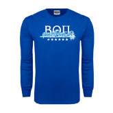 Royal Long Sleeve T Shirt-Beta Theta Pi Sword Design