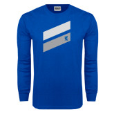 Royal Long Sleeve T Shirt-Stripe Design
