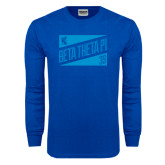 Royal Long Sleeve T Shirt-Beta Theta Pi Triangles