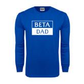 Royal Long Sleeve T Shirt-Beta Dad Cut Out