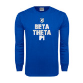 Royal Long Sleeve T Shirt-Stacked BTP with pattern