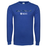 Royal Long Sleeve T Shirt-Beta Theta with pattern