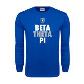 Royal Long Sleeve T Shirt-Stacked BTP