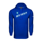 Under Armour Royal Performance Sweats Team Hood-Beta Theta Pi Diagonal