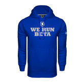 Under Armour Royal Performance Sweats Team Hoodie-We Run Beta with Pattern