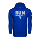 Under Armour Royal Performance Sweats Team Hoodie-Run Beta Theta Pi w/ Shield Stacked