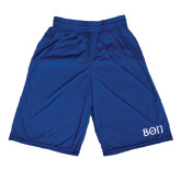Performance Royal 9 Inch Short w/Pockets-Beta Theta Pi Greek Letters