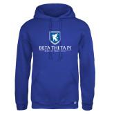 Russell DriPower Royal Fleece Hoodie-Official Logo