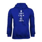 Royal Fleece Hood-Keep Calm and Go Beta