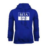 Royal Fleece Hoodie-Beta Dad Cut Out