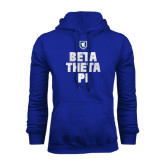 Royal Fleece Hoodie-Stacked BTP with pattern