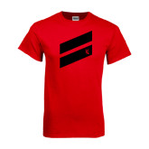 Red T Shirt-Stripe Design