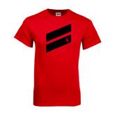 Red T Shirt-Stripe Design