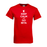 Red T Shirt-Keep Calm and Go Beta