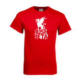 Red T Shirt-Rush Beta Stacked