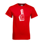 Red T Shirt-Rush Foam Finger