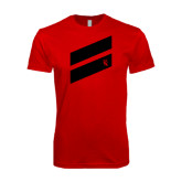SoftStyle Red T Shirt-Stripe Design