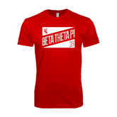 SoftStyle Red T Shirt-Beta Theta Pi Triangles