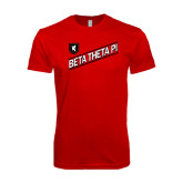 SoftStyle Red T Shirt-Beta Theta Pi Diagonal