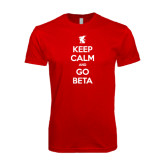 SoftStyle Red T Shirt-Keep Calm and Go Beta