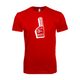 SoftStyle Red T Shirt-Rush Foam Finger