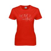 Ladies Red T Shirt-Beta Theta Pi Sweetheart Script