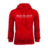 Red Fleece Hoodie-Beta Theta Pi
