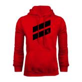 Red Fleece Hoodie-Stripe Design