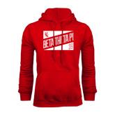 Red Fleece Hoodie-Beta Theta Pi Triangles