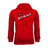 Red Fleece Hoodie-Beta Theta Pi Diagonal