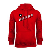 Red Fleece Hood-Beta Theta Pi Diagonal