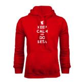 Red Fleece Hood-Keep Calm and Go Beta