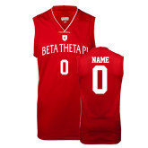 Replica Red Adult Basketball Jersey-Official Logo White Letters