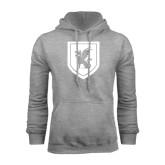 Grey Fleece Hoodie-Official Shield
