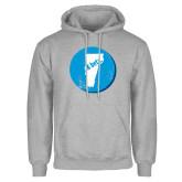 Grey Fleece Hoodie-Vermont