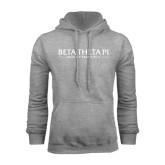 Grey Fleece Hoodie-Beta Theta Pi