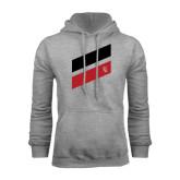 Grey Fleece Hoodie-Stripe Design
