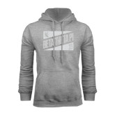 Grey Fleece Hood-Beta Theta Pi Triangles