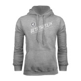 Grey Fleece Hoodie-Beta Theta Pi Diagonal