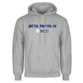 Grey Fleece Hood-Beta Theta with pattern