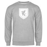 Grey Fleece Crew-Official Shield