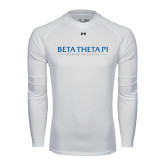 Under Armour White Long Sleeve Tech Tee-Beta Theta Pi