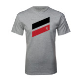 Grey T Shirt-Stripe Design