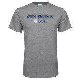 Grey T Shirt-Beta Theta with pattern