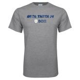 Grey T Shirt-Beta Theta with pattern